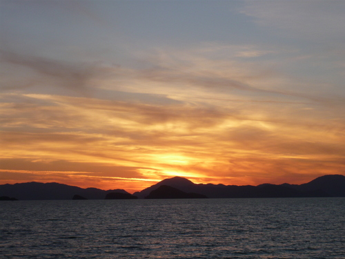 Sunset from the Beach of Koca Calis and Ciftlik