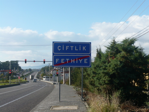 D400 Sign for  Ciftlik Turkey